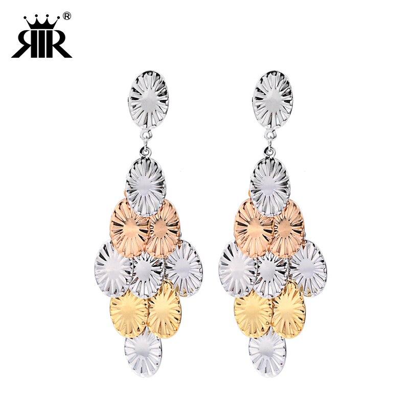 RIR 2017 Trend Trendy Hot Sale Jewelry Tresor Charm Women Boho Stud Earrings Set In Stainless