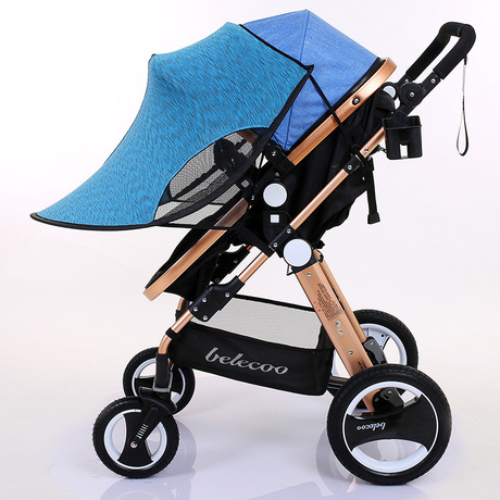 Kids Transparent Universal Double 360 Stroller Rain Cover Sitting Side by Gift~