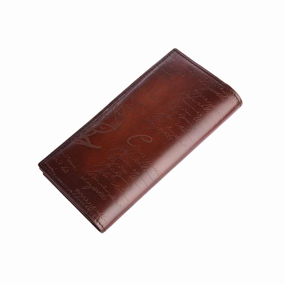 TERSE_2017 New Releave Wallet Handmade Leather Bag Lettering Men Long Wallet 5 Colors in Stock custom service