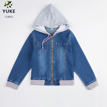 YUKE  Girls Denim Top Childrens Fashion Casual Jacket Baby Comfort Coat 2-7 Age I33196-8