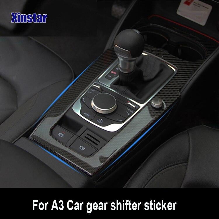 Carbon fiber car center decoration sticker for audi A3