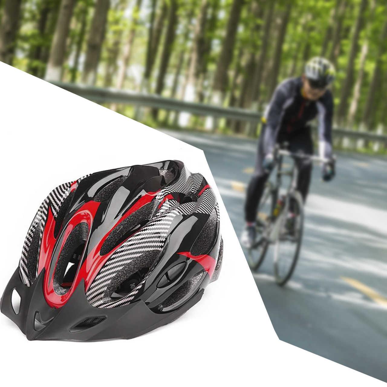 אופני אופניים רכיבה מגן קסדת 21 חורים לנשימה רכיבה על אופניים ספורט בטיחות ראש ציוד קסדת עמיד מתכוונן חיצוני