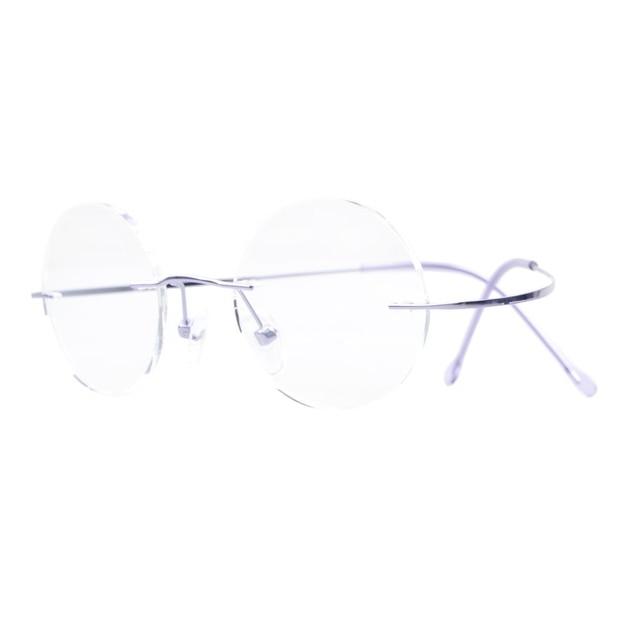 0a951202e Y43 Eyekepper óculos Sem Aro de Titânio Frame Ótico de Óculos Redondos  Círculo + 0.00