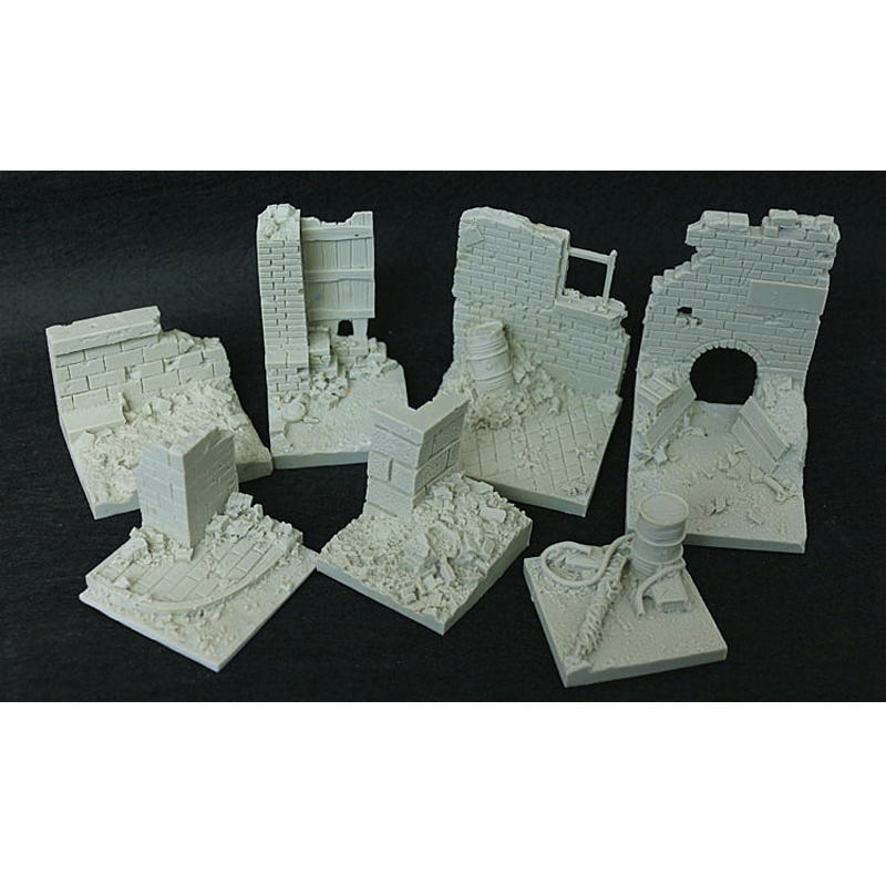 1/35 Resin Models Soldiers City Ruins Field Base Slabs Base War Sand Table Special Platform Model Scenarios цена