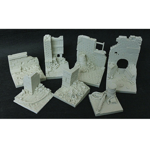 1/35 Resin Models Soldiers City Ruins Field Base Slabs Base War Sand Table Special Platform Model Scenarios