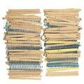 1500 Pcs 1/4 W Metal Film Resistores Assorted Kit 75 Valores (1 ohm Para 10 M ohm) 1% Frete Grátis