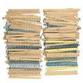 1500Pcs 1/4W Metal Film Resistors Assorted Kit 75 Values (1 ohm To 10M ohm) 1% Free Shipping