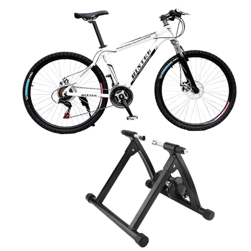 Magnet Steel Cycling Biking Indoor Training Station Road Bicycle Parking Racks Bike Indoor Exercise Trainer Stand Max Load 150KG free indoor exercise bicycle trainer 6 levels home bike trainer mtb road bike cycling training roller bicycle rack holder stand