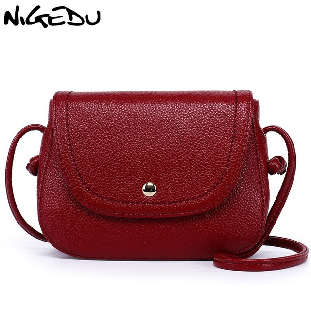8099638ec4ee NIGEDU Brand designer women shoulder bag small genuine leather crossbody bag  Simple Fashion Cowskin women messenger bags bolsa