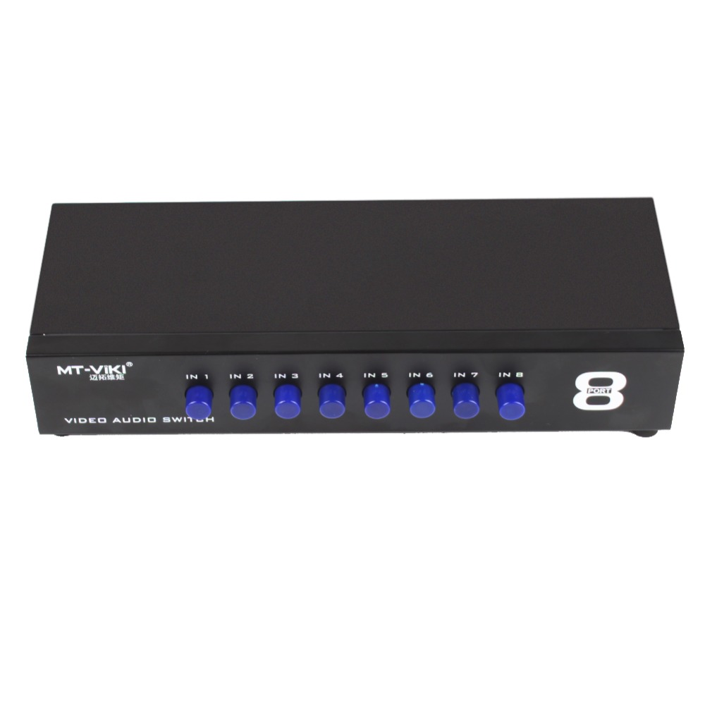 8 Ports 1output Splitter Composite 3RCA AV Video Audio Switch Switcher Box Selector 8 In 1 Out #256269 цена и фото