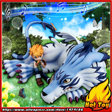 "100% Original MegaHouse G.E.M. Exclusive Complete Figure – Garurumon & Ishida Yamato from ""Digimon Adventure"""