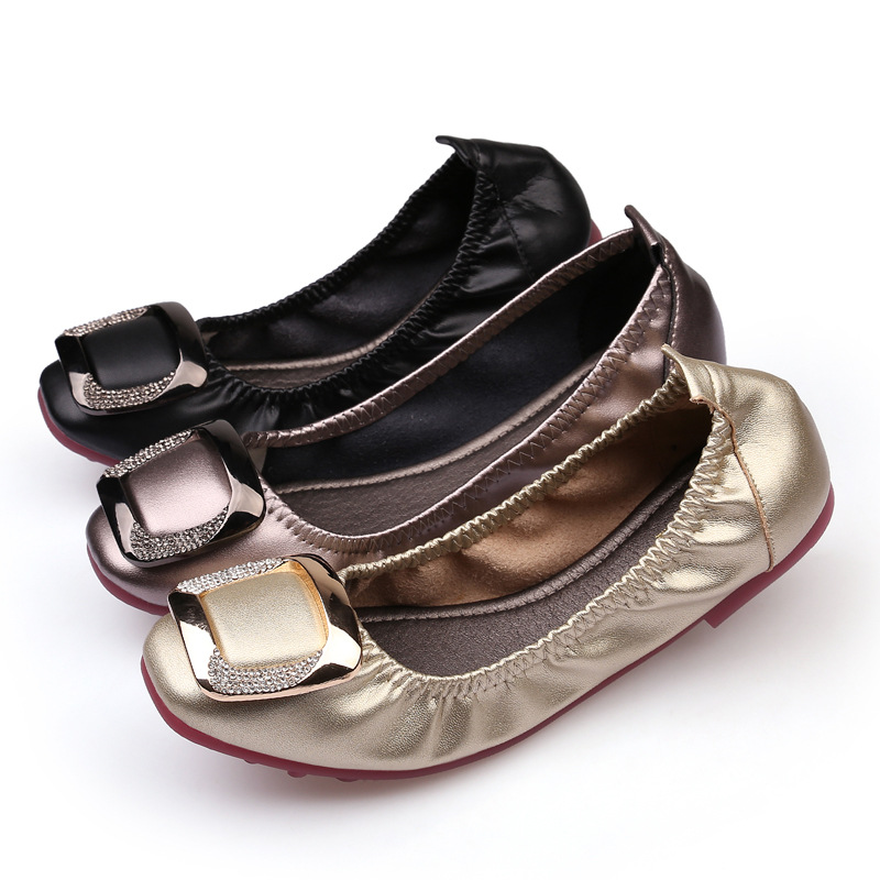 2018 women shoes ballet flats woman casual boat shoes fashion loafers ladies shine leisure party wedding microfiber soft bottom 2