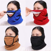Multiple Functions Women Man Winter Outdoors Earmuffs Mask Scarf Three In One Plush Dustproof Warm Fashion Casual #35