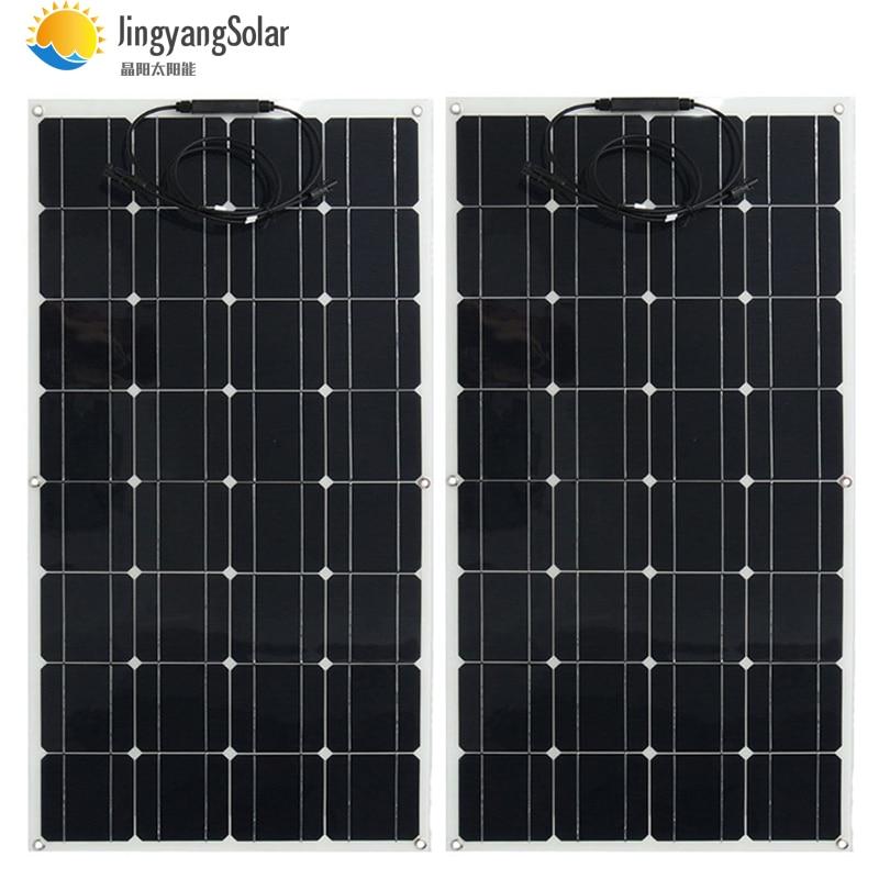 2 pièces 4 pièces 10 pièces panneau solaire 100 w semi monocristallin cellule solaire panneau flexible panneau solaire 12 V 24 V chargeur de batterie 400 w 1000 w-in Cellules photovoltaïques from Electronique    1