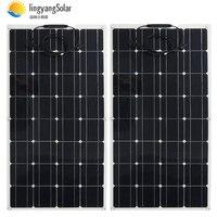 2pcs 4pcs 10pcs solar panel 100w semi monocrystalline solar cell flexible panel solar panel 12V 24V battery charger 400w 1000w