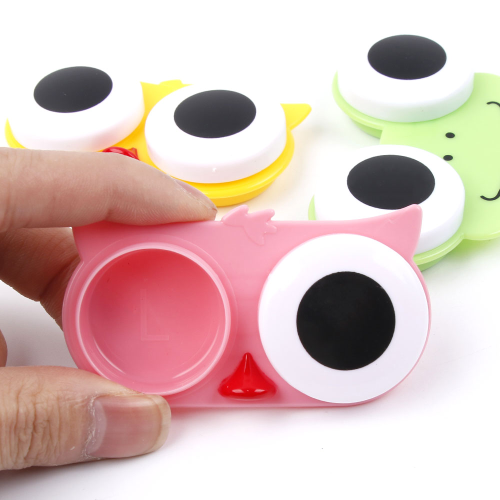 Eyewear Accessories Provided Free Delivery Easy Carry 1pcs Travel Glasses Contact Lenses Box Contact Lens Case For Eyes Care Kit Holder Container Gift Lovely Luster