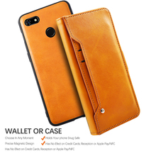 For Google Pixel 3a 3a XL Case Removable PU Leather Flip Stand Magnetic Wallet Case For Google Pixel 3A XL Case Rotate Card Slot
