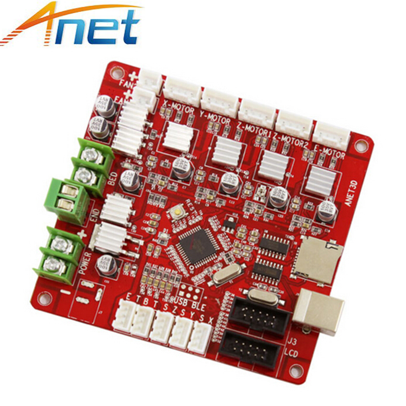 Anet V1.5 Motherboard Control Board 3D Printer Parts for Anet A8 &A6 &A3 &A2 RepRap Reprap Prusa i3 3D Printer Accessories dc24v cooling extruder 5015 air blower 40 10fan for anet a6 a8 circuit board heat reprap mendel prusa i3 3d printer parts