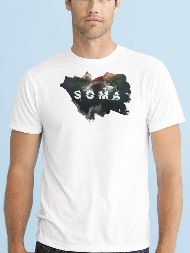 Gildan SOMA SURVIVAL HORROR Frictional Games VIDEOGAME PS4 PC SCARY men t shirt