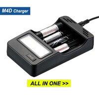SKILHUNT M4D Li ion LiFePO4 IMR Ni MH And Ni Cd 26650/18650/AAA Batteries Charger Portable Flashlight Lighting Accessories