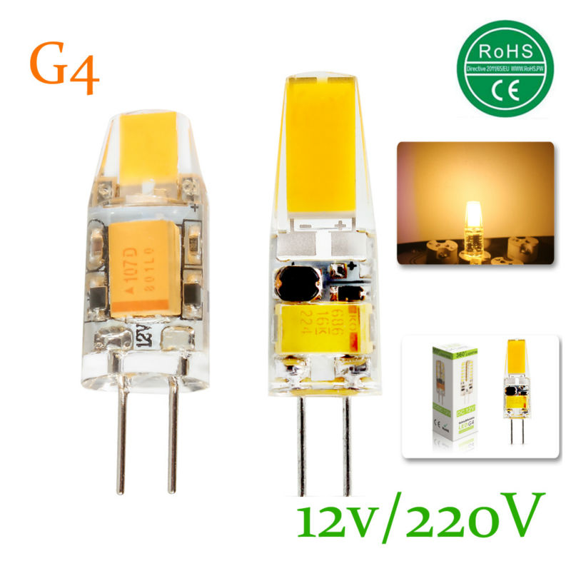 Mini G4 LED Lamp COB LED Bulb 3W 6W DC/AC 12V AC 220V Dimmable ...