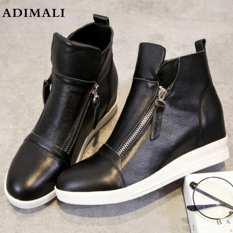 Натуральная кожа повседневная обувь Для женщин дизайнерские туфли для бега трусцой женская обувь натуральная кожа Модные Разноцветные Выс...