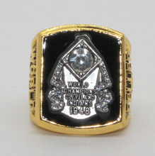 1948 indios de cleveland feller anillo de campeonato de la serie mundial