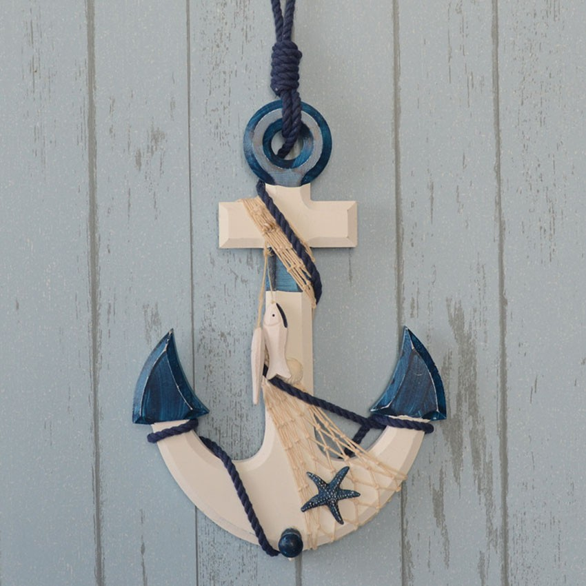 Wooden Anchor Wall Decor anchor for wall decoration promotion-shop for promotional anchor