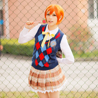 Lovelive Love Live School Idol Project Rin Hoshizora Costume Unwakened Characters Cosplay Sweater Blouse Skirt For