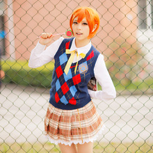 Rin Hoshizora Cosplay Love Live Lovelive School Idol Project Constellation Unawakened Uwowo Costume Sweater Blouse & Skirt