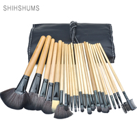 SHIH SHUMS Professional Makeup Brushes 24 Pcs High Quality Synthetic Hair And Nature BristlesMakeup Artist Brush