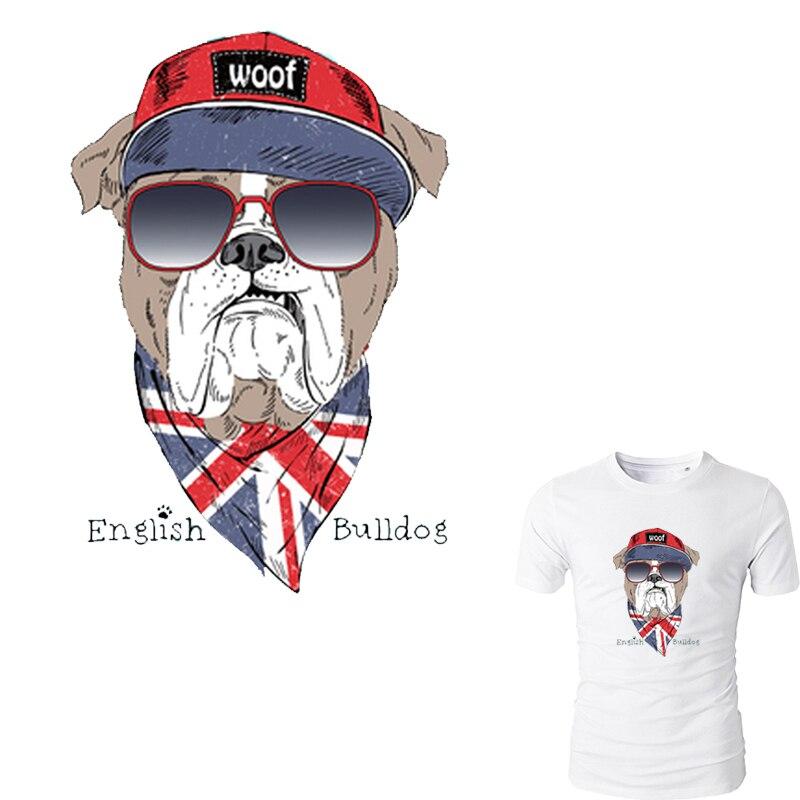 Nouveau Mode Bulldog Anglais Patch 16 25 cm Un-niveau Lavable Écologique  Fer Sur Les Patchs Pour Les Vêtements Facile par Ménage Fers 5dc1b1953c3