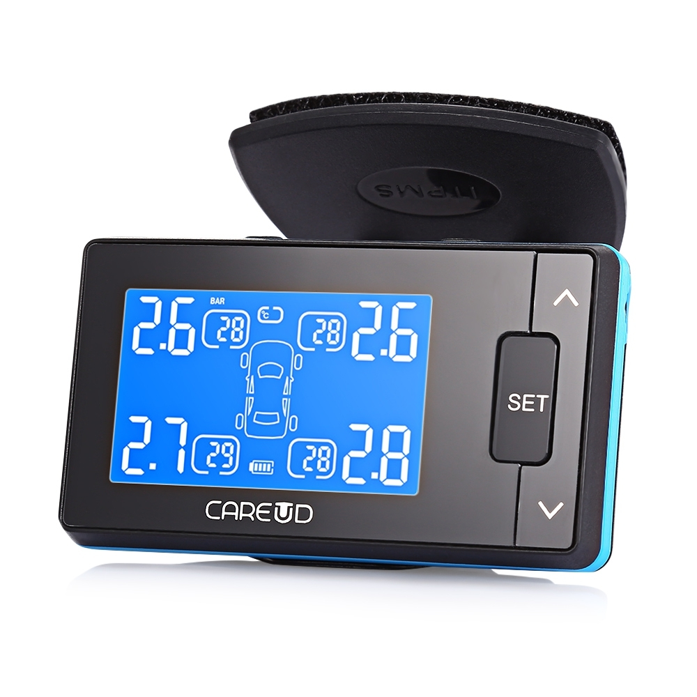 CAREUD U902 Car Tire Pressure Monitoring Alarm System LCD Display 4 Wireless Sensors Independent Installation Diagnostic-Tool