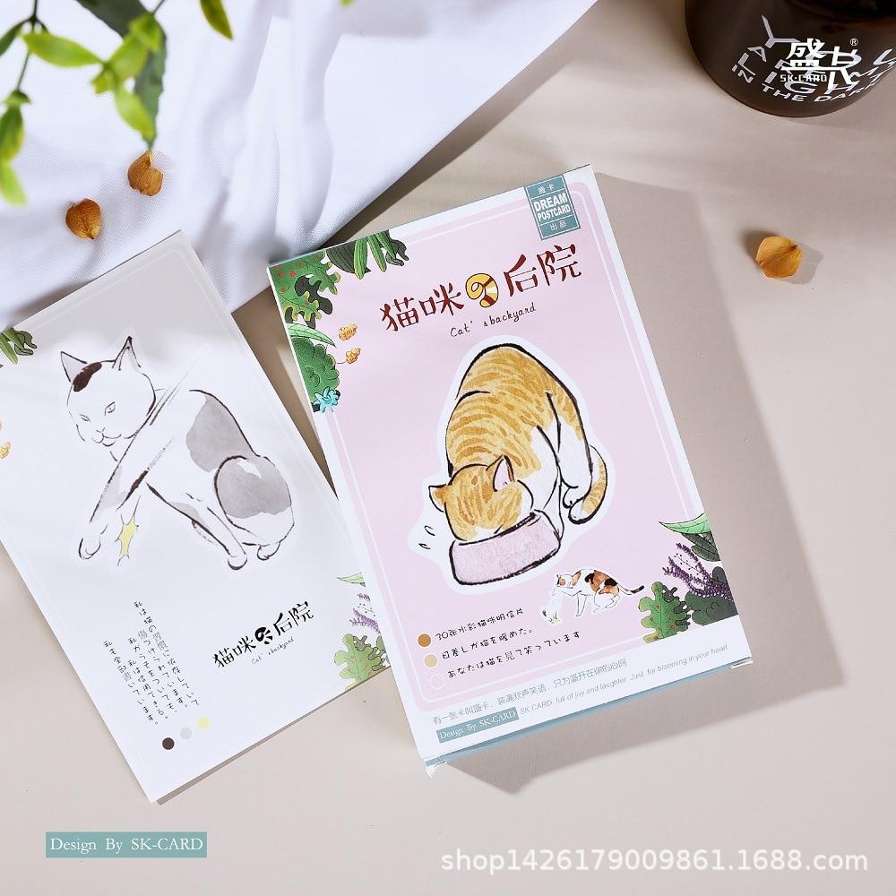 30 Sheets/SET Cat's Backyard Cartoon Postcard/Greeting Card/Wish Card/Christmas And New Year Gifts