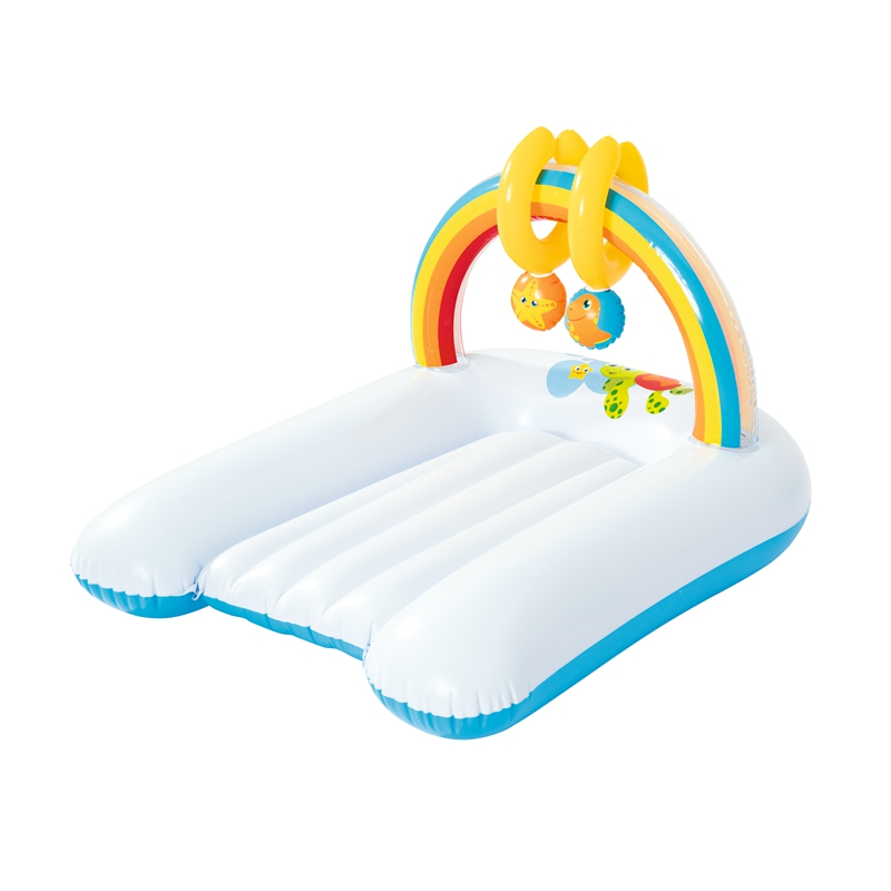 80cm Long Inflatable Baby Changing Mat With Hanging Toys Extra Comfort Bed For Babies