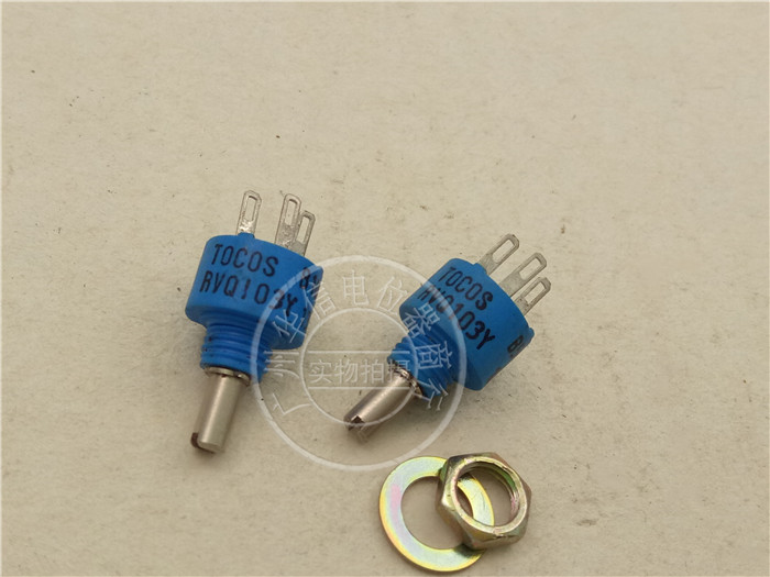 Original new 100% Japan import RVQ103Y 10S B103M B502M 5K 10K conductive plastic potentiometer 360 degrees blue (SWITCH) adjustable potentiometer 5k bochen 3323p 1 502