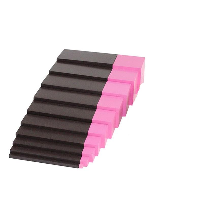 Nouveau Montessori jouets en bois maternelle enfant apprentissage aides Version maison marron échelle rose tour piédestal jouets sensoriels