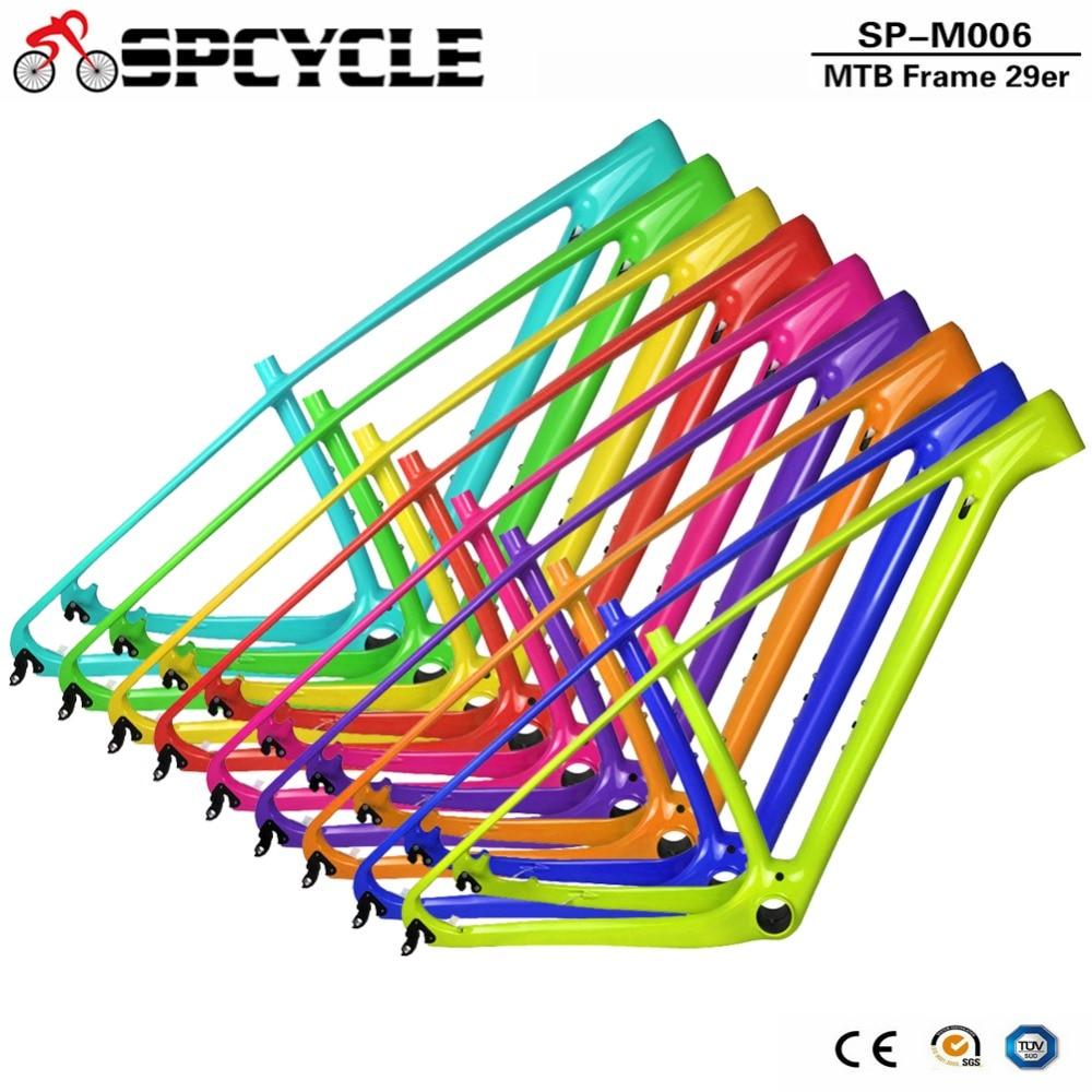 Spcycle 2018 Новый T1000 углерода Mtb рама 29er углерода горного велосипеда 142*12 через ось или 135*9 мм QR раме велосипеда