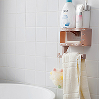 Bathroom magic no mark storage rack with hook Bathroom roll paper rack 19 5 9 5 17 4cm in Storage Shelves Racks from Home Garden