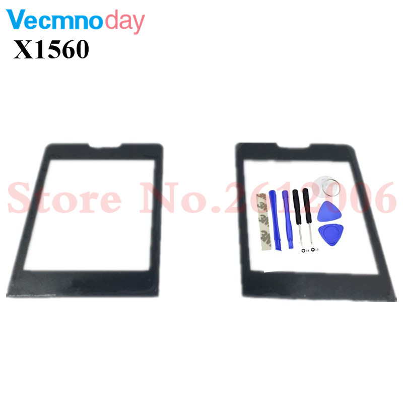 Vecmnoday Black Screen For <font><b>Philips</b></font> Xenium <font><b>X1560</b></font> Glass lens Panel Not Touch Screen Digitizer Replacement + tracking Number image