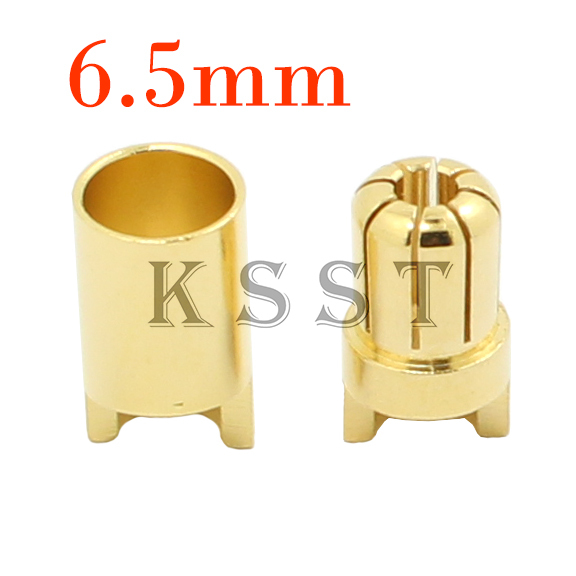 GC6510 10 par/lote alta calidad 6,5mm chapado en oro Bullet conector Banana macho + hembra para RC Motor ESC partes