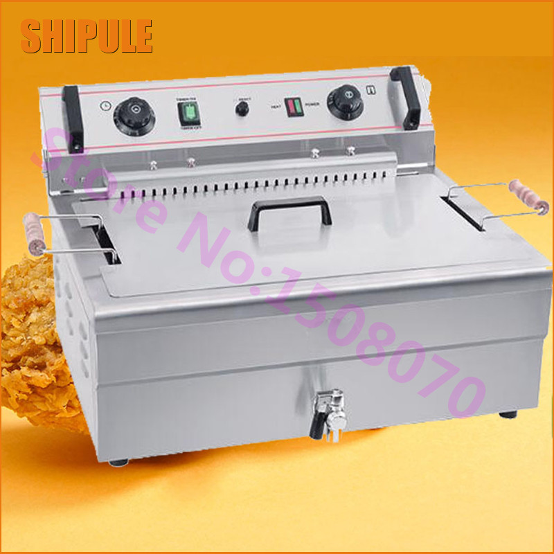 SHIPULE 20L large capacity factory industrial fried chicken machine commericial electric kfc fryer machine for sale