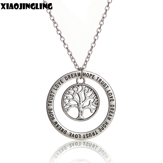 xiaojingling tree of life hollow family tree charm love dream hope