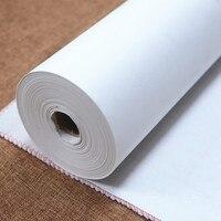 100 m Halb-Reifer Xuan Papier Kalligraphie Schreiben Reis Papier Chinesischen Claborate-stil Freehand Malweise Malerei Reife Roh xuan Papier