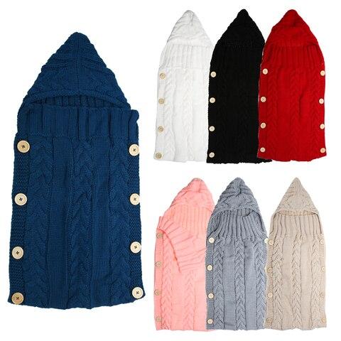 Baby Infant Swaddle Wrap Warm Wool Blends Crochet Knitted Hoodie Swaddling Wrap Blanket Sleeping Bag Islamabad