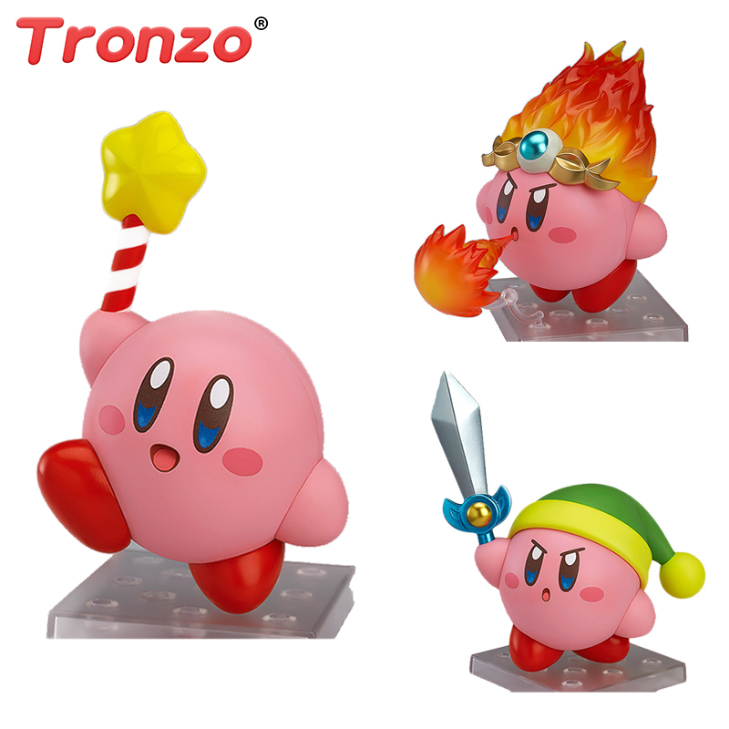Tronzo 10cm Cute Super Star Kirby Plush Action Figure Toys Deformable Collectible Model Toy Halloween Birthday Gift For Kids 26cm crazy toys 16th super hero wolverine pvc action figure collectible model toy christmas gift halloween gift
