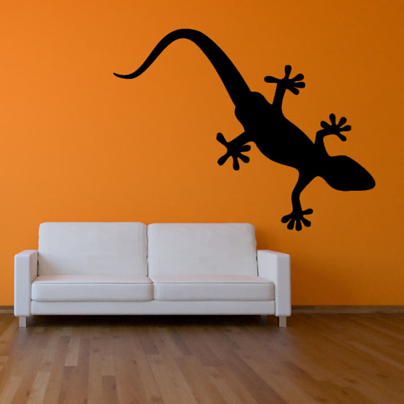 online kaufen großhandel gecko wand dekoration aus china gecko ... - Wohnzimmer Orange Schwarz