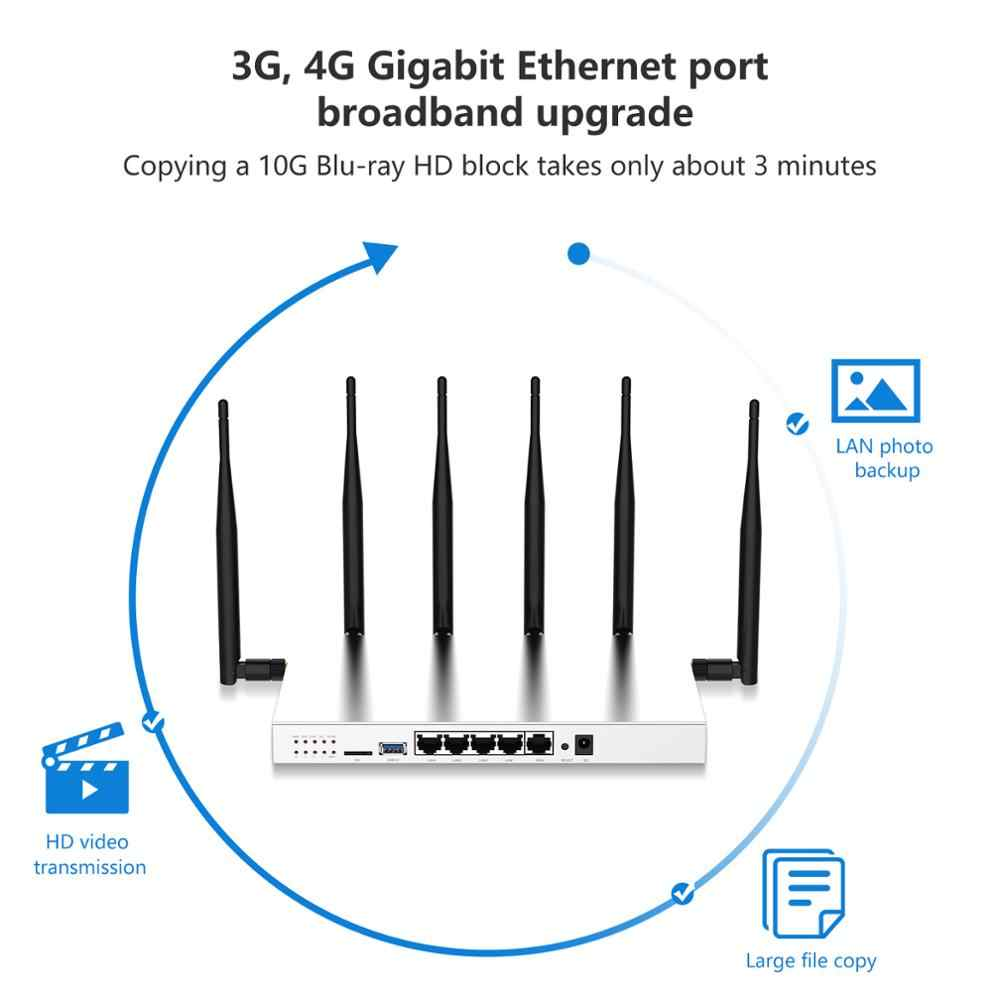 Cioswi 3G 4G נתב עם כרטיס ה-SIM חריץ 3G 4G LTE מודם חזק Wifi יציב ביצועים גבוהה רווח Omni כיוונית אנטנה