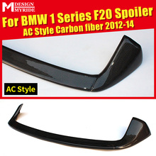 AC Style Carbon Fiber Rear Roof Spoiler Tail For BMW F20 118i 120i 135i 125i Trunk Wing Car Styling Auto Accessories 12-14