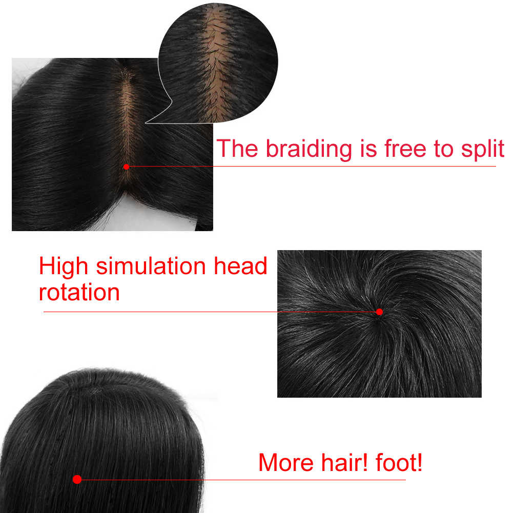 16 дюймов черная голова манекена для косметологии парик для укладки волос Парикмахерская Учебная модель инструмент